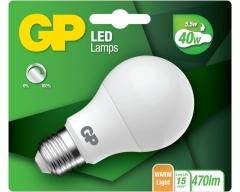 GP LED Lampe, E27, Classic, 5,5W, DIMMBAR, 077947