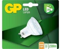 GP LED Lampe, GU10, 4W, nicht dimmbar, Reflektor, 080169