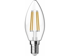 GP LED Lampe, E14, 4,8W, DIMMBAR, Kerze Filament, 078166
