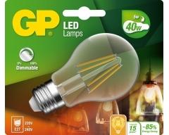 GP LED Lampe, E27, 5,1W, Classic Filament DIMMBAR, 078210