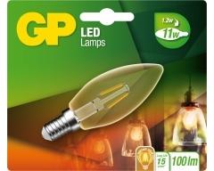 GP LED Lampe, E27, 4,5W, Filament SpiralFlame, 085225