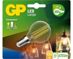 GP LED Lampe, E14, 4W, Filament, 085379