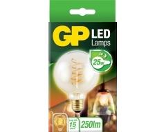 GP LED Lampe, E27, 5W, Filament Gold, 082132