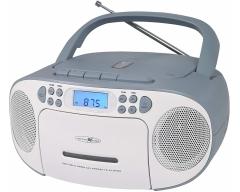 RCR2260 weiß/blau, Boombox mit Radio, MP3/CD, Kassette und AUX-IN