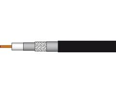 AC100PE 100m/Schwarz, Koaxialkabel >120 dB, Klasse A+, Dreifachgeschirmt