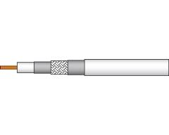 AC100 100m/Weiß, Koaxialkabel >120 dB, Klasse A+, Dreifachgeschirmt