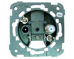 AOF 9U, Antennendose (Durchgang-), 5-2400 MHz, Class A, 2-Loch mit Schnellverschluss, Durchgangsdose, IEC / F Anschluß