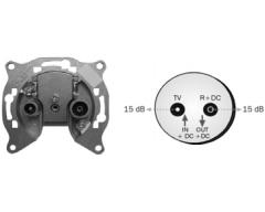 AO 15 U Universal Durchgangsdose 15 dB mit Rückkanal
