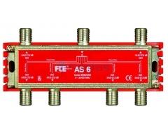 AS 6, 6-fach Verteiler 5-2400 MHz, Classe A, F-Anschluss, 5-470: 13,0 / 13,5 dB, 470-862: 13,0 / 14,0 dB, 950-2400: 16,0 / 17,0