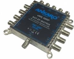 ANKARO® eMS 58 RP, Multischalter 5/8, Alu-Druckguss, nur 80x80x20mm, Receivergespeist