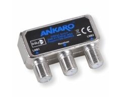 ANKARO ANK 2/1 DiSEqC WSG, DiSEqC Schalter 2.0 für 2 LNCs, 1 Ausgang, mit Wetterschutzgehäuse, für Mastmontage