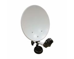 CAMP 1 im praktischen Koffer, 35 cm Spiegel, Single LNC, HD-Receiver ANK DSR 2100, 12V Kabel...