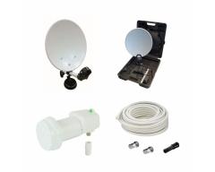 CAMP 3, Easyfind im praktischen Koffer, 35 cm Spiegel, Easyfind Single LNC, 10m Antennenkabel, Stecker