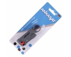 ANKASAT ANK KOAX Koax-Abisolierzange, Abisolierwerkzeug, Schnittlänge 6 - 8 - 12 mm, inkl. Imbusschlüssel