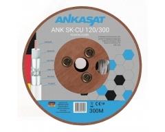 ANK SK-CU 120/300, Koaxialkabel, Antennenkabel, 120dB, 3 fach Schirmung, Vollkupfer, mit Meterbedruckung, 6,8mm, 300m Trommel, w
