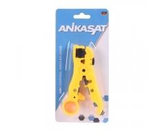 ANKASAT ANK UNI Unikoax-Abisolierzange, Abisolierwerkzeug mit Seitenschneider, zum abisolieren und schneiden von Antennenkabel