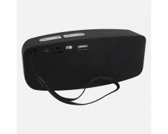 S2G AXESS Stereo schwarz/weiß, Stereo-Bluetooth-Lautsprecher mit FM-Radio und Freisprecheinrichtung