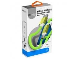 BC-10 grün, 1m USB-C Ladekabel Handy