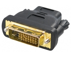 C197BL, HDMI-Kupplung 19pol. auf DVI-Stecker 24+1pol., schwarz, vergoldete Kontakte