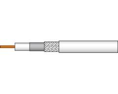 AC89-100S, Koaxialkabel mit Metermarkierung, PVC-Mantel weiß, 100 m Spule,  Preis incl.CU