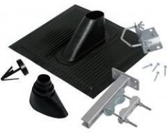 ALU-Dachziegel-Set, schwarz, universal, 6-teilig