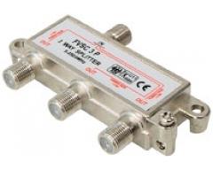 FVSC3PL, 3-fach Verteiler, DC-Durchgang an allen Anschlüssen, 5-2500 MHz, Unicable-tauglich