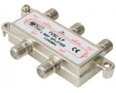 FVSC4PL, 4-fach Verteiler, DC-Durchgang an allen Anschlüssen, 5-2500 MHz, Unicable-tauglich