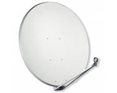 Gibertini Offset Parabol 125 CM, Alu-Reflektor, Lichtgrau