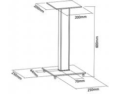 HF40-2L, 2 Standfüße für Lautsprecherboxen