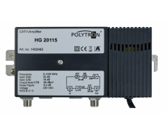 HG 20115, 1 GHz-Hausanschlussverstärker, 20 dB, 115 dBµV, Rückkanal 16 dB, 5- 65 MHz, KDG B(1.1.)1 G