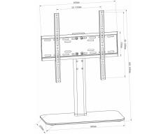 """HP2BL, ECONOMY LINE, für Bildschirme 32""""-55"""", Belastung bis 40 kg"""