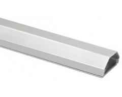 HZ3-0,75SiL, 0,75m Kabelkanal aus Aluminium, 33 mm. 2-teilig, silber