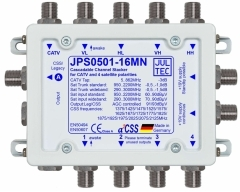 JPS0501-16MN, Einkabelumsetzer für 1 Satelliten 5 Stammleitungen, Sat kaskadierbar, 1x Legacy oder 16x Receiver