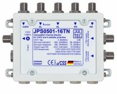 JPS0501-16TN, Einkabelumsetzer für 1 Satelliten 5 Stammleitungen, terminiert, 1x Ausgang 1x Legacy oder 16x Receiver