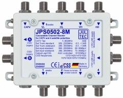 JPS0502-8M, 5 Eingänge, Sat kaskadierbar,  2x Ausgänge für je 8x Unicable Adressen oder 2 Legacy