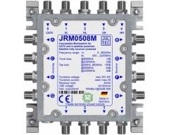 JRM0508M, Multischalter für 1 Satelliten, 5 Stammleit. (passiv), Terrestrik terminiert, LNB und Multischalter komplett receive