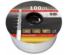 KH133-100RL, Cu-Koaxial Kabel 100m, 5-fach geschirmt, Klasse A+, 123 dB, Eca