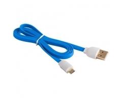 MBFL-10 blau, USB - Micro-USB-Flachkabel, 1,0m