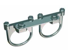 MF U, Universal 2-fach Multifeedschiene (Befestigung über ein 40 mm LNC)