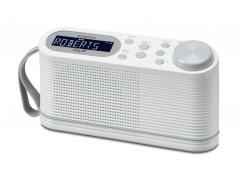 Play10 weiß, Tragbares DAB+/FM Radio mit Stationsspeichertasten