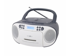 RCR2260DAB weiß/grau, Boombox mit DAB+ Radio, Kassette, CD, MP3, USB und AUX-In