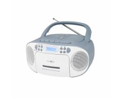 RCR2260DAB weiß/blau, Boombox mit DAB+ Radio, Kassette, CD, MP3, USB und AUX-In