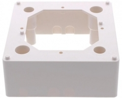 SAD 165, Aufputzrahmen 80 x 80 x 32 mm, für Abdeckplatten SAD 155, SAD 200, SAD 300, SAD 400, SAD 401, Farbe weiß RAL 9010