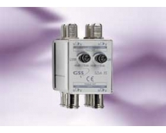SDA 15, Aufsteckverstärker für 4 SAT-ZF-Eingänge, Verstärkung 15 dB, Dämpfung 0 - 10 dB regelbar