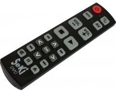 SeKi DVD schwarz, Universalfernbedienung speziell für DVD/Blu-Ray/VCR