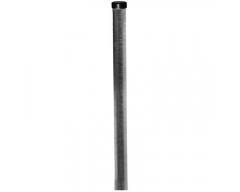 Stahlmast, 1 Meter, Rohr Ø 48x2 mm mit Mastkappe