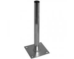 Alu-Standfuß / 1,0m, Ø 50mm / Platte 19x19cm