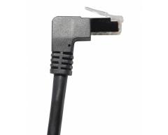 TI45-2L, 2,0m, Cat6A / S/FTP (PIMF) Patchkabel, 90° gewinkelt