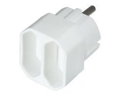 NV1WL, Mehrfachadapter, 2x Euro, weiß