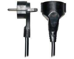 SV55-10, 10 Meter, Schutzkontakt-Flachstecker - Verlängerungskabel mit Winkelstecker